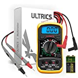ULTRICS Professional Digital Multimeter, Voltmeter Ammeter Ohmmeter Tester Voltage Continuity, Current Meter, Mini Portable Multimeter with LCD Display to Measure OHM AC DC Resistance
