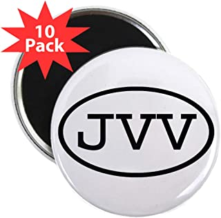 "CafePress JVV Oval 2.25 Magnet (10 Pack) 2.25"" Round Button Magnet (10 pack)"