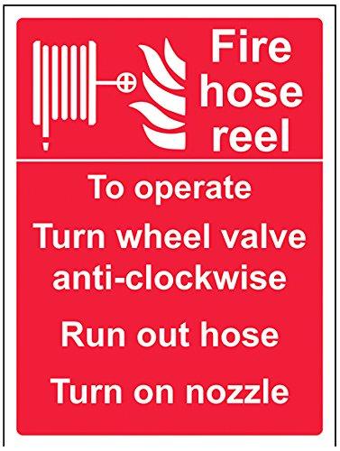 vsafety 13056an-s equipo contra incendios señal, carrete de manguera de incendios (Manual),...