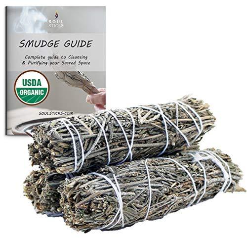Ancientveda Lavender Smudge Sticks 3 Pack for Cleansing, Meditation, Yoga, and Smudging