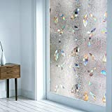 Adhesivo de Vidrio de privacidad Opaco 3D película de Ventana autoadhesiva Anti-Ultravioleta película de Vidrio de Puerta y Ventana de casa E 40x200cm