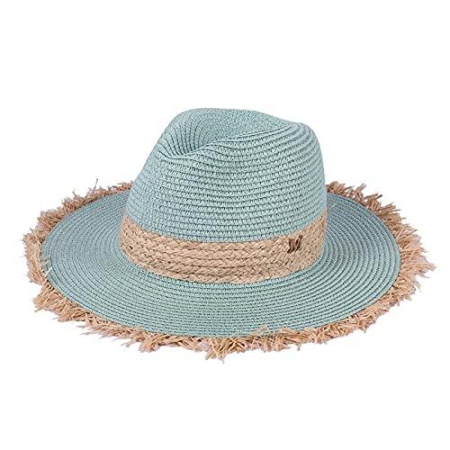 Gorra de vaquero de verano, sombreros de sol casuales para mujer, moda, letra M, paja de jazz para hombres,...