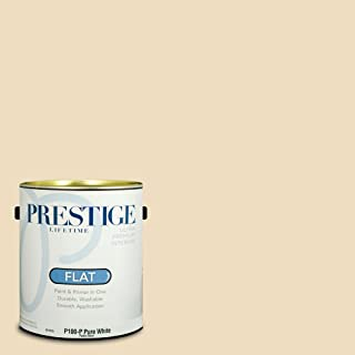 Prestige Paints P100-P-SW6386 Interior Paint and Primer in One, 1-Gallon, Flat, Comparable Match of Sherwin Williams Napery, 1 Gallon,