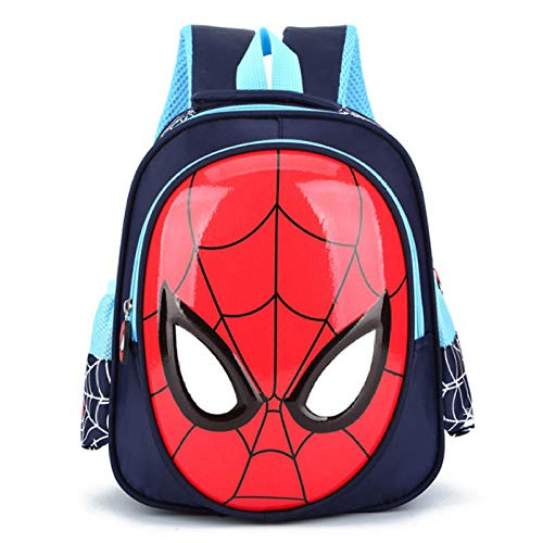 Nuevas Mochilas Escolares 3D para niños de 3 a 6 años, Mochila para Libros de Spiderman para niños, Mochila para niños, Mochila, Mochila 2020, Mochilas Impermeables Calientes-Azul Oscuro