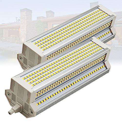 2-pc 220 ° 189mm R7s Bombilla LED 60W Bombillas LED de Doble Extremo 110-240V J Tipo R7s Reflector 1000W Bombilla halógena Reemplazo 3000K-6000K Luces de Paisaje