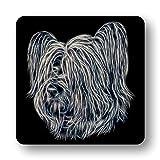 Fractal Artworks Untersetzer Skye Terrier mit Fractal Art Design #1-2 Perfektes Geschenk für Hundebesitzer