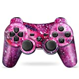 Puning Wireless Controller for PS3 Controller, Wireless Controller with Upgraded Joystick Compatible with Sony Playstation 3(Sky)