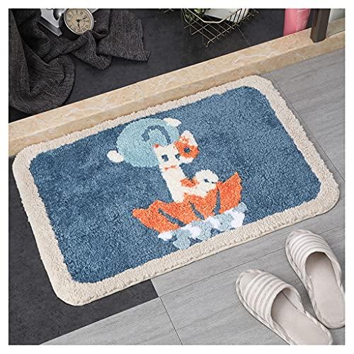 CHENMIAOMIAO Almohadilla antideslizante para baño de dibujos animados para absorción de agua, almohadilla para puerta de baño, entrada en casa, cojín para dormitorio, alfombra de mano (color: F)