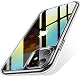 Humixx iPhone 11 Hülle, HD Anti-Gelb iPhone 11 hülle transparent 9H Hart Glas iPhone 11 case...