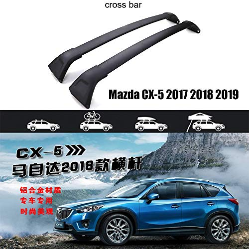 LKJIPL Neue Ankunfts-Dachreling Ross Bar & Roof Rack-Fit für Mazda CX-5 2017 2018 2019,Crossbar