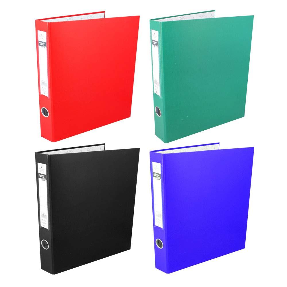 Starplas AC1554 Pack 4 Carpetas archivador con 2 Anillas, Tamaño A4, Cartón Forrado, 4 unidades, 4 Colores: Amazon.es: Oficina y papelería