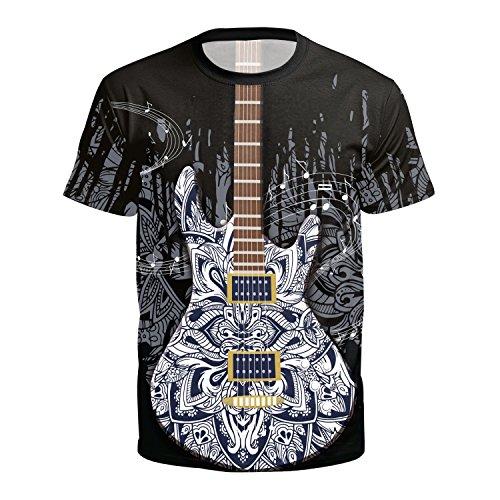 JJLESUN2 Unisex T-shirt met ronde hals, goedkoop, streetwear, dames fancy gitaar bedrukt T-shirt