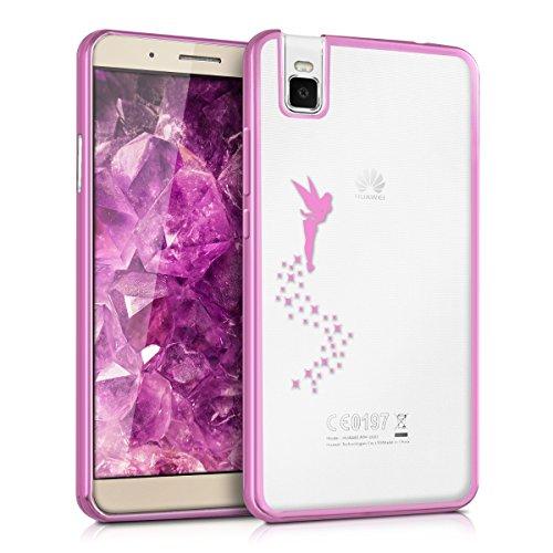kwmobile Hülle kompatibel mit Huawei ShotX - Hülle Handy - Handyhülle Fee Pink Transparent