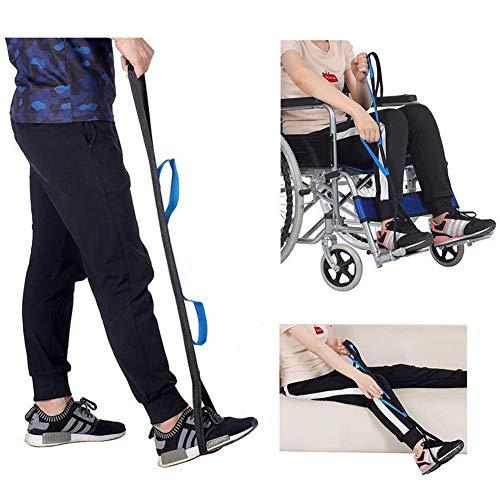 Beenhefferriem met 3 handlussen, handriem voor ouderen, handicap, mobiliteitshulp voor auto's, rolstoelen, bedden, stoelen, heup- en knievervanging