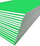 Excelsis Design, Pack of 15, Foam Boards, 20x30 Inches, Green Color (More Colors Available) 3/16 Inch Thick Mat, (Acid-Free Foam Core Backing Boards, Double-Sided Sheets)