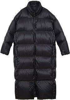 Giacca in Cotone da Uomo Winter Stand Down Jacket Couples Long Warm Jacket Allunga l'allungamento (Color : Black, Size : M)