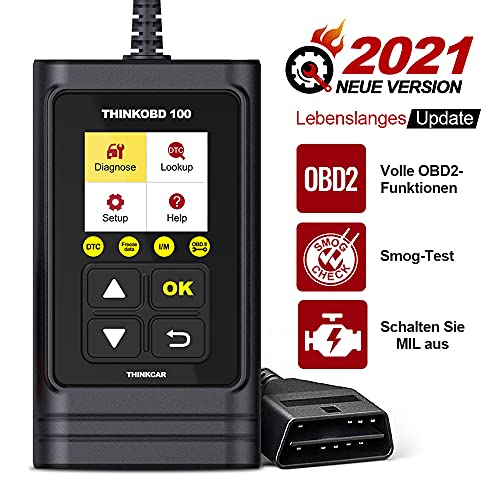 thinkcar THINKOBD 100 OBD2 Diagnosegerät,Verbesserter Universal USB Codeleser CAN-Scan-Tool mit Full OBDII Funktionen, Diagnosegerät Auto für Alle OBDII Protokoll