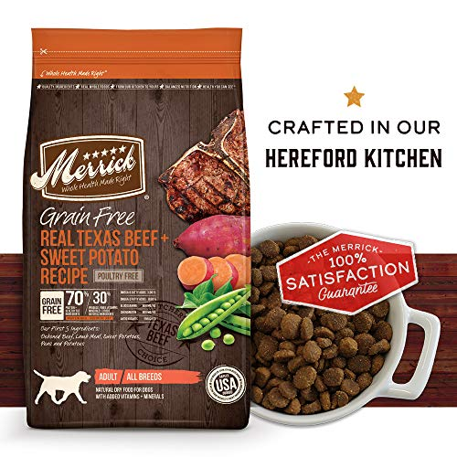 Merrick Grain Free Dry Dog Food Recipes, Texas Beef, 25 Pound