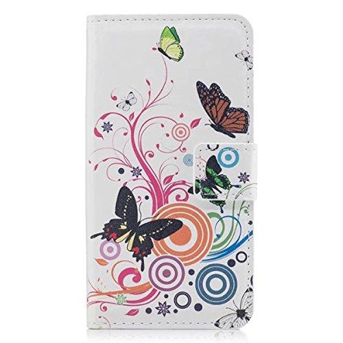 HUANGTAOLI Funda protectora cartera Flip Case Cover para Samsung Galaxy Core Plus...