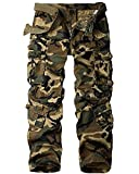 Men's BDU Casual Military Pants, Tactical Wild Army Combat ACU Rip Stop Camo Cargo Work Pants Trousers with 8 Pockets#3357-Camouflage,38