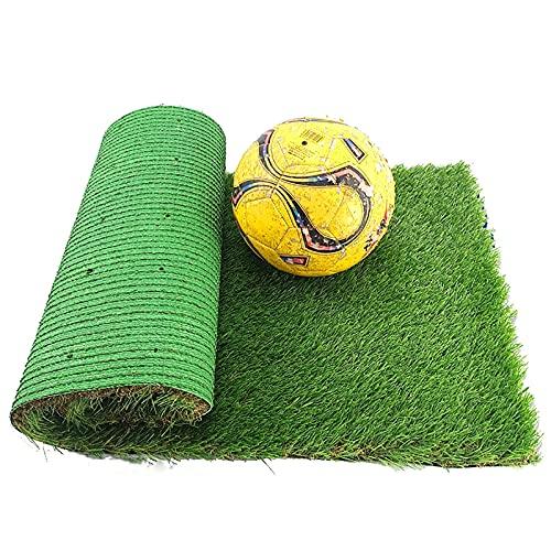 CNBPLS Künstlicher Rasen Teppich Fake Gras Outdoor Gartenrasen, wasserdichte Gummi High Density Gras Höhe 10Mm Für Gartenterrasse Im Freien,13 * 2M