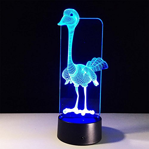 baby Q LED 3D Lampe, Lumières stéréo visuelles acryliques d'autruche, lumières colorées de Cadeau de Contact de Contact, lumières actionnées par USB
