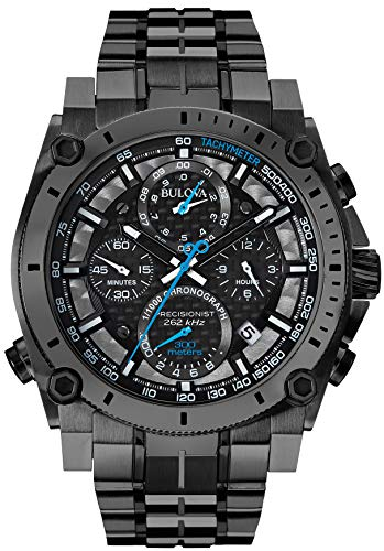 Bulova Precisionist Chronograph Men's UHF Watch with Black Dial and Stainless Steel Bracelet 98B229