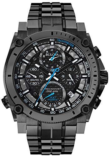 Bulova Men's 98B229 Precisionist Analog Display Japanese Quartz Black Watch