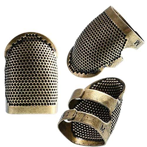 Nähen Fingerhut Fingerschutz 1 Pack verstellbare Sashiko Fingerhut Nadeln Nähen Quilten Bastelzubehör zum Nähen Stickerei Stricken Quilten