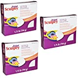 Original Sculpey Sculpturing Compound White Oven-Bake Clay - for School and Art Projects - 1.75 Pound, Pack of...