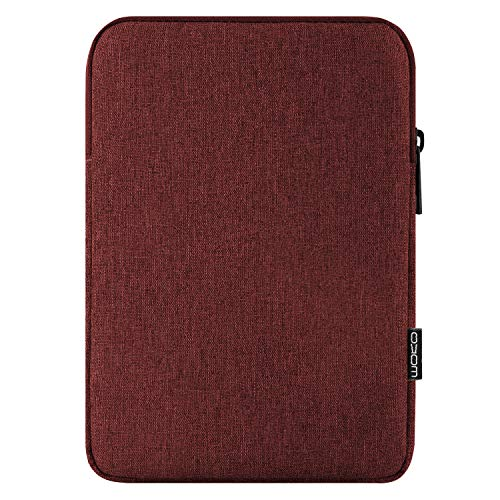 MoKo 12.9 Inch Laptop Sleeve Case Fits iPad Pro 12.9 3rd/4th Generation 2018-2020, iPad Pro 12.9 2017/2015, Surface Pro 12.3 Inch, Polyester Bag Fit with Apple Pencil and Smart Keyboard - Wine Red