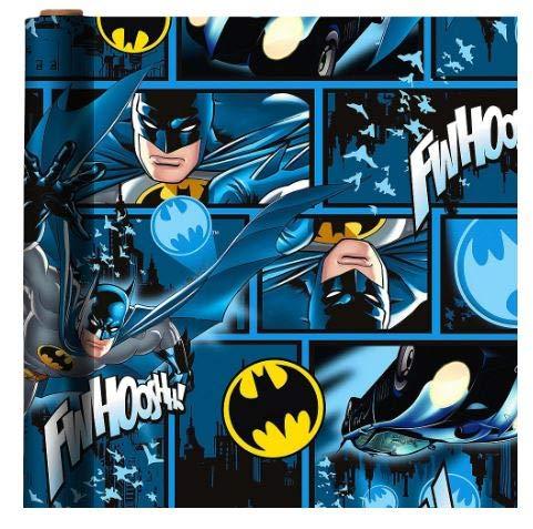 Geschenkpapier, Motiv: Batman, Blau, 1 Rolle