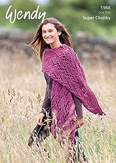 Wendy Ladies Wrap Serenity Knitting Pattern 5966 Super Chunky