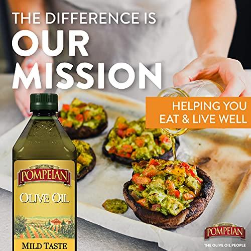 Pompeian Classic Olive Oil, Mild Flavor, Perfect for Roasting and Sauteing, Naturally Gluten Free, Non-Allergenic, Non-GMO, 32 FL. OZ., Single Bottle