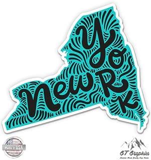 New York Shape Cute Letters Native Local - Vinyl Sticker Waterproof Decal