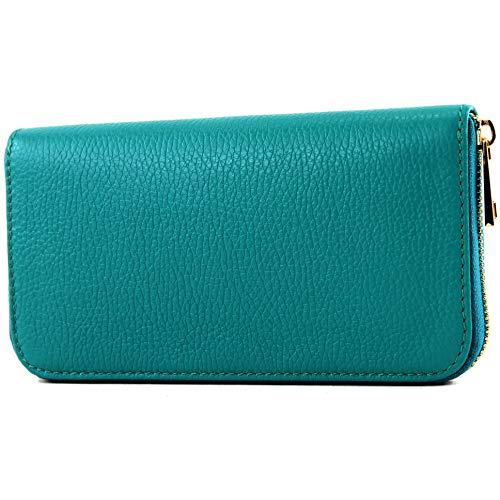 Price comparison product image modamoda de - P02 - Italian women wallet,  real leather,  long