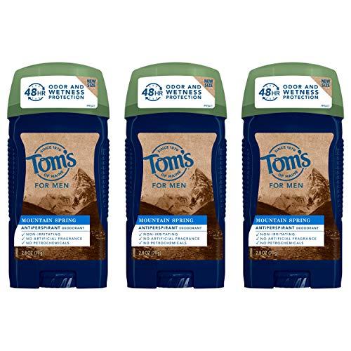 Tom's of Maine Antiperspirant Deodorant for Men, Mountain Spring, 2.8 oz. 3-Pack