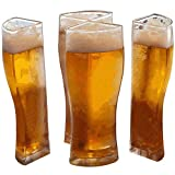 sunshines 4 in 1 Acrylic Plastic Material Friends Party Holiday Birthday Drink Beer Mug,Let You Easily Carry 4 Beer Glasses at Once for Christmas Party,Beer Festival,Family Party and Pub (1set)