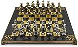 L.J.JZDY Tablero de ajedrez Ajedrez de ajedrez de Metal de napoleón Hecho a Caballo en Caja de Madera