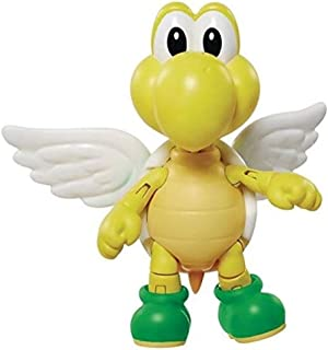 """World of Nintendo 4"""" Green Shell Koopa para Troopa with Wings Action Figure"""