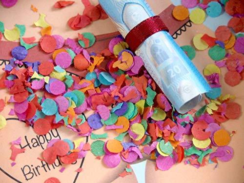 ZauberDeko Geldgeschenk Verpackung für Männer Geburtstag Mann Happy Birthday Konfetti Geschenk Party - 6