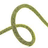 LJPzhp - Corda da arrampicata statica da 9 mm per arrampicata, alta resistenza, per interni, palestra, escursionismo, pesca, fughe di fuoco, corda per esterni (colore: giallo, dimensioni: 9 mm x 10 m)