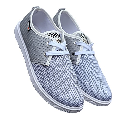 Sun Florence Men Casual Lightweight Lace-up Popular Fashion Mesh Sneakers Grey 44