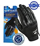 New Improved 2X Long Lasting Bionic StableGrip Men's Black Golf Glove - Patented Stable Grip Genuine Cabretta Leather, Natural Fit Designed by Orthopedic Surgeon! (XL, Worn on Left Hand)