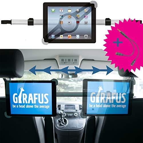 Girafus Tablethalter Auto Kopfstütze Mittig Stabil / 9 10 11 Zoll Tablets / für iPad Galaxy Tab Huawei  Xiaomi Fire / KFZ Tablet Halterung Rücksitz Mitte Universal /Tablethalterungen Auto Relax H3