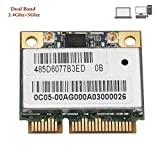 Tarjeta de red de tarjeta Wifi, tarjeta de red inalámbrica de doble banda 2.4 GHz / 5 GHz AR5BHB92 Mini PCI-E Tarjeta de red inalámbrica WLAN para Windows XP, Win 7, Win 8, Win 8.1, Win 10, Linux