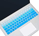 Silicone Keyboard Cover Skin for Microsoft Surface Laptop 3 13.5 Inch and 15 Inch, Surface Laptop 3 Keyboard Protector Accessories, Gradual Blue