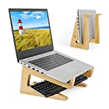 Soporte de madera para ordenador portátil, de almacenamiento, adecuado para computadoras de 10-17 pulgadas