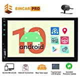 EINCAR Android 10 Head Unit Double 2 Din Car Radio 7' HD Capacitive Touch Screen GPS Navigation Stereo System 2GB RAM Support Bluetooth 1080P Mirrorlink WiFi 4G USB TF Backup Camera