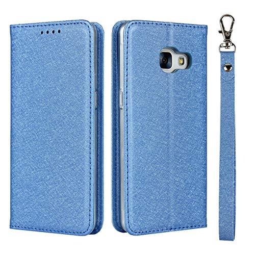 サムスン Galaxy Feel SC-04J ケース 手帳型 カバー ギャラクシー フィール sc-04j 手帳ケース Zouzt PUレザー製 ストラップ付き ベルトなし スタンド カード収納 マグネット 耐衝撃 滑り止め 5色 ブルー
